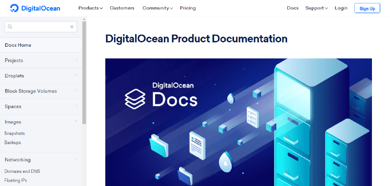 DigitalOcean-documentatie